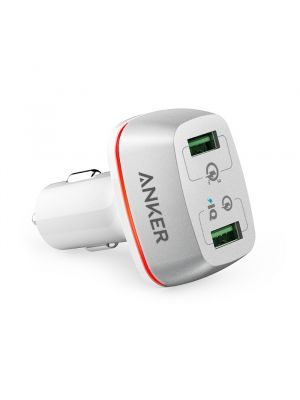 Anker PowerDrive+ II, With Quick Charge 3.0, White